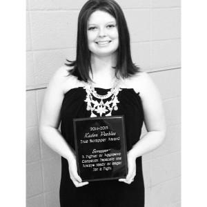 sports banquet award selfie
